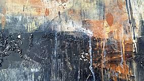 Obrazy - abstraktné obrazy, Posolstvo tmavej noci, 130x90 - 10947148_