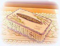 Košíky - Na vreckovky - levanduľa - 10947220_