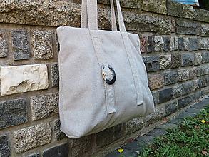 Veľké tašky - svetlo sivá belka - 10946838_