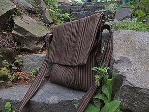 Iné tašky - hnedá pásik belka - 10946974_
