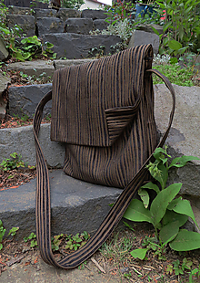 Iné tašky - hnedá pásik belka 2 - 10946996_