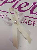 Pierka - Svadobné pierko biela perlička - 10950235_