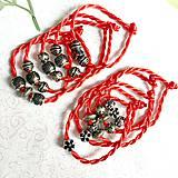 Náramky - Lucky Red Pandora Style Bracelet / Náramok proti urieknutiu - 10948630_