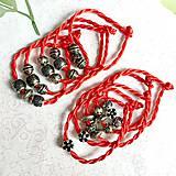 Náramky - Lucky Red Pandora Style Bracelet / Náramok proti urieknutiu - 10948631_