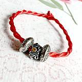 Náramky - Lucky Red Pandora Style Bracelet / Náramok proti urieknutiu - 10948635_