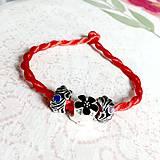 Náramky - Lucky Red Pandora Style Bracelet / Náramok proti urieknutiu - 10948642_