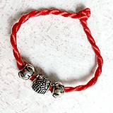 Náramky - Lucky Red Pandora Style Bracelet / Náramok proti urieknutiu - 10948652_