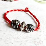 Náramky - Lucky Red Pandora Style Bracelet / Náramok proti urieknutiu - 10948654_
