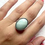 Prstene - Amazonite & Stainless Steel Ring / Prsteň s amazonitom z chirurgickej ocele - 10948998_