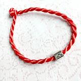 Náramky - Lucky Red Zodiac Sign Bracelet / Náramok proti urieknutiu so symbolom znamenia - 10949227_