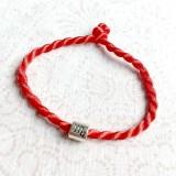 Náramky - Lucky Red Zodiac Sign Bracelet / Náramok proti urieknutiu so symbolom znamenia - 10949228_