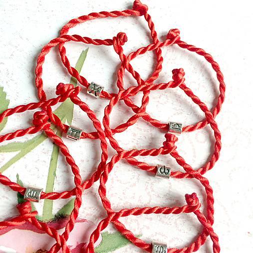 Lucky Red Zodiac Sign Bracelet / Náramok proti urieknutiu so symbolom znamenia