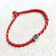 Náramky - Lucky Red Zodiac Sign Bracelet / Náramok proti urieknutiu so symbolom znamenia (Rak) - 10949222_