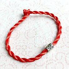 Náramky - Lucky Red Zodiac Sign Bracelet / Náramok proti urieknutiu so symbolom znamenia (Lev) - 10949223_