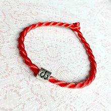 Náramky - Lucky Red Zodiac Sign Bracelet / Náramok proti urieknutiu so symbolom znamenia (Baran) - 10950363_