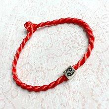 Náramky - Lucky Red Zodiac Sign Bracelet / Náramok proti urieknutiu so symbolom znamenia (Ryby) - 10950367_