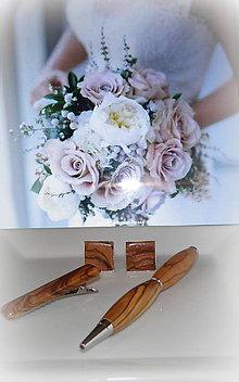 Šperky - manžetové gombíky drevené - 10949340_
