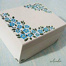 Krabičky - Malovaná krabička - pomněnky - 10947802_