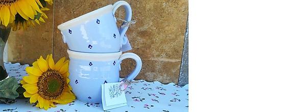Nádoby - Keramický hrnček na čaj - new modrý - 10948883_