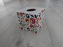 Krabičky - HM - Krabička na vreckovky - podstava štvorec - 10949015_