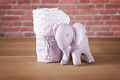 Textil - Set deky a sloníka - ružový - 10949929_