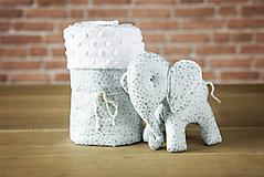 Textil - Set deky a sloníka - zelený - 10949966_