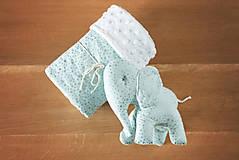 Textil - Set deky a sloníka - zelený - 10949969_