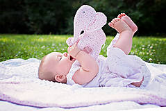 Textil - Set deky a sloníka - fialový - 10950026_