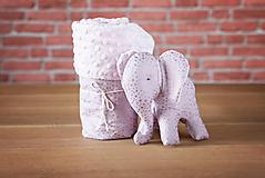 Set deky a sloníka - fialový