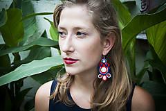 Náušnice - Milujem folk - Ručne šité šujtášové náušnice - Soutache earrings - 10948624_