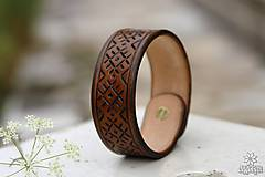 Náramky - Kožený náramok - 10948983_