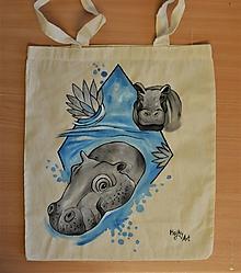 Nákupné tašky - Taška s hrochom - 10949382_