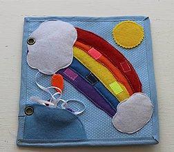 Hračky - Stránka quiet book - farby - 10950220_