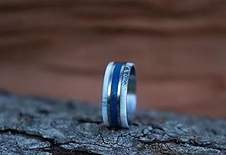 Prstene - Prsten Lapis lazuli + Parožie - 10948155_