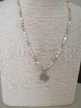 Náhrdelníky - SLON - náhrdelník - bielo/béžový - chirurgická oceľ - 10948282_