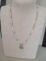Náhrdelníky - SLON - náhrdelník - bielo/béžový - chirurgická oceľ - 10948284_