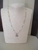 Náhrdelníky - SLON - náhrdelník - bielo/béžový - chirurgická oceľ - 10948287_