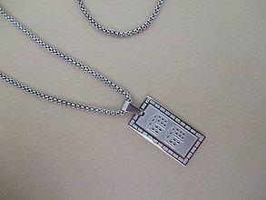 Šperky - Pánsky náhrdelník - hracie kocky - chirurgická oceľ - 10949005_