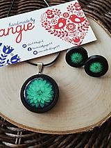 Sady šperkov - Zelený kvet - 10949572_