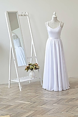 Sukne - Šifónová svadobná sukňa - 10947909_