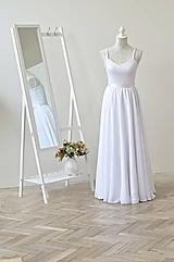 Šifónová svadobná sukňa