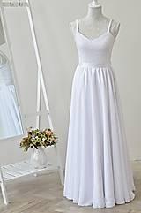 Sukne - Šifónová svadobná sukňa - 10947910_