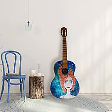 Obrazy - Roztopašná - maľovaná gitara - 10948701_