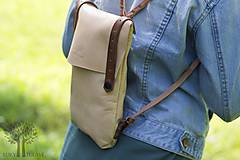 Batohy - Kožený ruksak - 10950379_