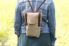 Batohy - Kožený ruksak - 10950380_