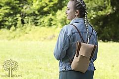 Batohy - Kožený ruksak - 10950381_