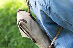 Batohy - Kožený ruksak - 10950382_