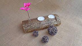 Svietidlá a sviečky - Svietnik drevený - 10949863_