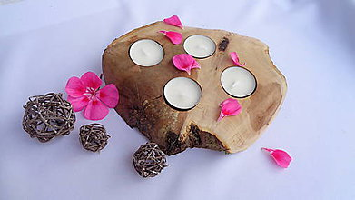 Svietidlá a sviečky - Svietnik na 4 sviečky - 10949811_