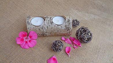 Svietidlá a sviečky - polienko- breza - 10950047_